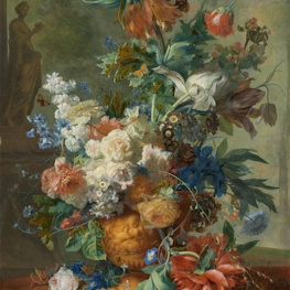 Still Life with Flowers reproduction Jan van Huysum on canvas