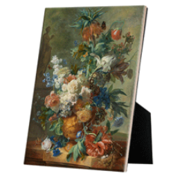 Still Life with Flowers reproduction Jan van Huysum on easelback