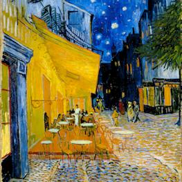 Caféterras bij nacht (Place du Forum)