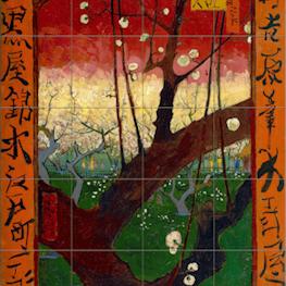 Bloeiende Pruimenboomgaard (after Hiroshige)