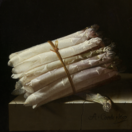Still life with asperges on canvas