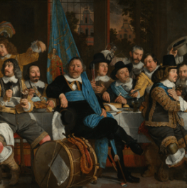 Banquet at the Crossbowmen's Guild in Celebration of the Treaty of Munster on canvas