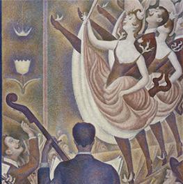 Le Chahut op canvas