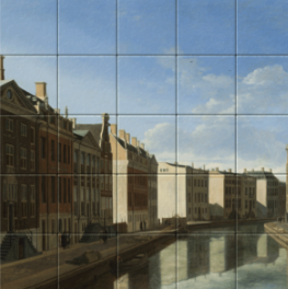 View of the Golden Bend in the Herengracht on tiletableau