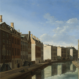 View of the Golden Bend in the Herengracht on canvas