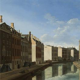 Gezicht op de Gouden Bocht in de Herengracht op canvas