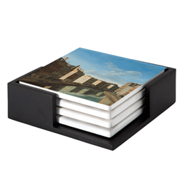 View of the Golden Bend in the Herengracht on ceramic coasters