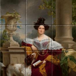 Portret van Alida Christina Assink op tegeltableau