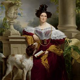 Portret van Alida Christina Assink op canvas