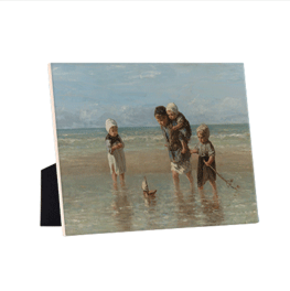 Children of the Sea on ceramic tile with the easelback