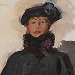 Mata Hari op canvas door Isaac Israels