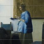 Brieflezende vrouw, Johannes Vermeer reproduktie