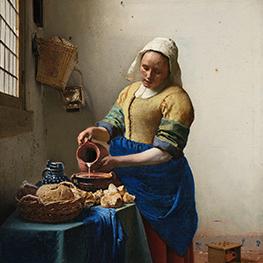 Courtisane (naar Eisen) Reproduktie Johannes Vermeer op canvas