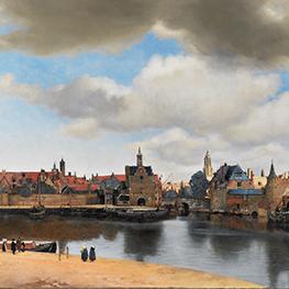 Amandelbloesem door Johannes Vermeer museum kwaliteit reproduktie op tegels