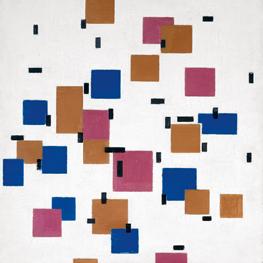 Courtisane (naar Eisen) Reproduktie Piet Mondriaan op canvas