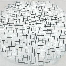 Amandelbloesem door Piet Mondriaan museum kwaliteit reproduktie op tegels