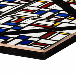 Stained-glass composition III on tile tableaux