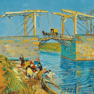 Bridge at Arles Reproduktie Vincent van Gogh op canvas