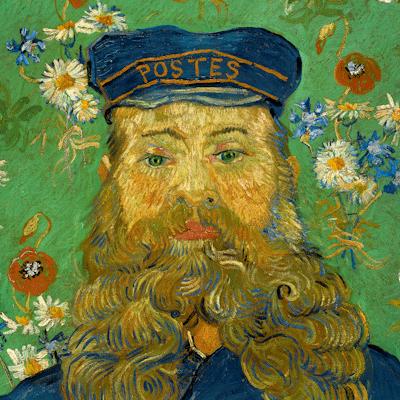Portret van Joseph Roulin door Vincent van Gogh museum kwaliteit reproduktie op canvas