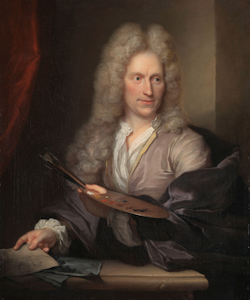 Jan van Huysum, de schilder en de reprodukties op canvas, linnen tegels en onderzetters