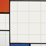 Compositie met rood, geel en blauw