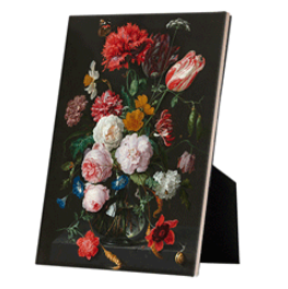 Still Life with Flowers in a Glass Vase on easelback