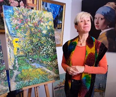 Op tegeltableau en op canvas: de prachtige kleuren van De tuin in de inrichting in St Remy