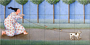 Small image of our reproduction of Travel Company by Ada Breedveld on ceramic tiles tableaus