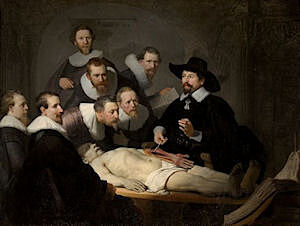 Image of our reproduction of Anatomy Lesson of Dr. N. Tulp by Rembrandt van Rijn on canvas, small