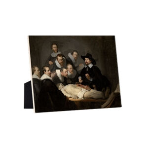 Image of our reproduction of Anatomy Lesson of Dr. N. Tulp by Rembrandt van Rijn on ceramic tiles with easelback, small