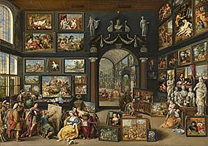 Image of our reproduction of Apelles Painting Campaspe by Willem van Haecht on canvas, small