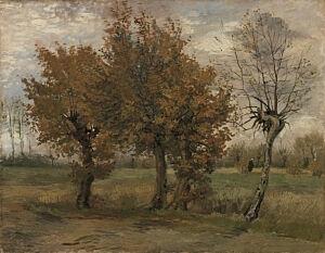 Afbeelding van onze reproductie van Herfstlandschap by Vincent van Gogh op canvas, klein