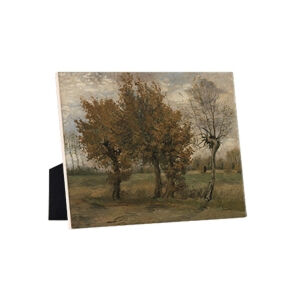 Image of our reproduction of Autumn Landscape by Vincent van Gogh on ceramic tiles with easelback, small