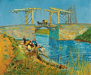 Image of our reproduction of Bridge at Arles (Pont de Langlois) by Vincent van Gogh on canvas, small