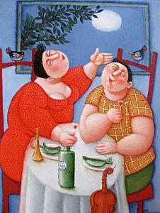 Afbeelding van onze reproductie van Casa Romantica by Ada Breedveld op canvas, klein