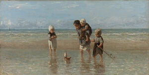 Image of our reproduction of Children of the Sea by Jozef Israels on canvas, small