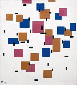 Image of our reproduction of Composition in Colour A by Piet Mondriaan on canvas, small