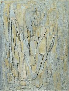 Afbeelding van onze reproductie van Compositie No. XI by Piet Mondriaan op canvas, klein