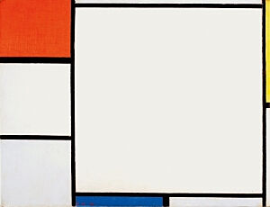 Image of our reproduction of Composition with Red, Yellow and Blue by Piet Mondriaan on canvas, small