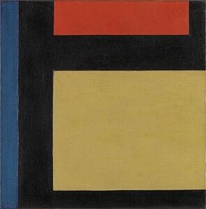 Afbeelding van onze reproductie van Contra-compositie X by Theo van Doesburg op canvas, klein