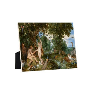 Image of our reproduction of Garden of Eden with the Fall of Men by Peter Paul Rubens on ceramic tiles with easelback, small