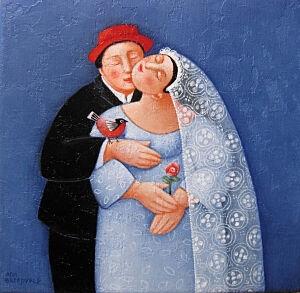 Afbeelding van onze reproductie van Getuigen by Ada Breedveld op canvas, klein