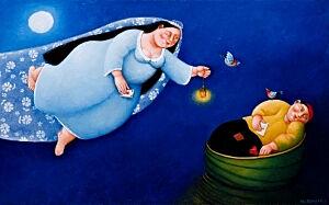Afbeelding van onze reproductie van Harte vrouw by Ada Breedveld op canvas, klein