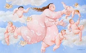 Afbeelding van onze reproductie van Hemels by Ada Breedveld op canvas, klein