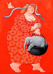 Afbeelding van onze reproductie van Ik breng je wel thuis mijn vriend by Ada Breedveld op canvas, klein