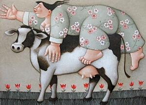 Afbeelding van onze reproductie van Klara by Ada Breedveld op canvas, klein