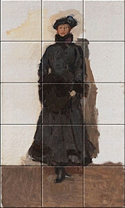 Small image of our reproduction of Mata Hari by Vincent van Gogh on ceramic tiles tableaus