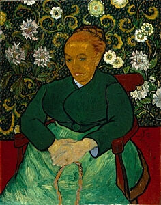 Image of our reproduction of La Berceuse (Portrait of Madame Roulin) by Vincent van Gogh on Canvas, thumbnail