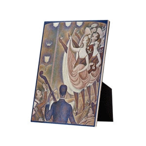 Image of our reproduction of Le Chahut by Georges Seurat on ceramic tiles with easelback, small