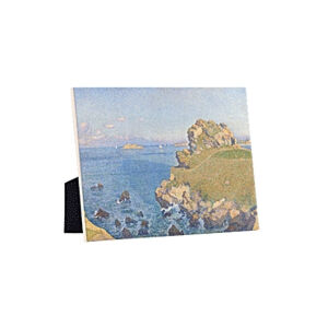Image of our reproduction of Le Per Kiridy by Théo van Rysselberghe on ceramic tiles with easelback, small